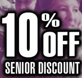 10% senior discount with any windshield