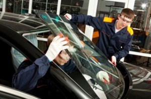 Removing windshield from car
